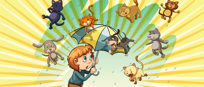 traduzione-letteraria-modi-di-dire-inglesi-it-rains-cats-and-dogs